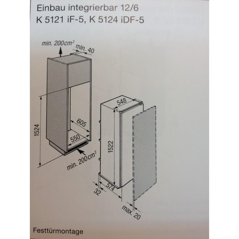 Vollintegrierbar Einbau Miele Kuhlschrank K 5121 If 5 Mit