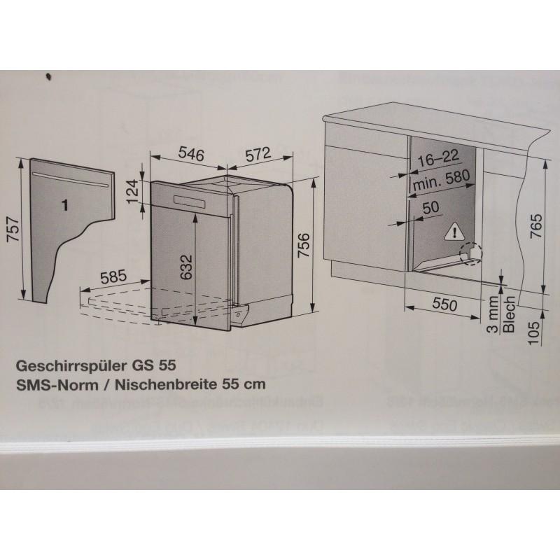 Gut bekannt Gehrig , Einbau, Geschirrspüler GS 55 S 41024 Swiss , integriert XA34