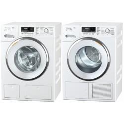 Miele Waschturm Waschmaschine WMR 500-61 CH + Wärmepumpentrockner TMR 800-40 CH