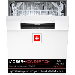 Siemens Geschirrspüler SM55E232CH, Weiss, 55cm, CH-Norm, Einbau