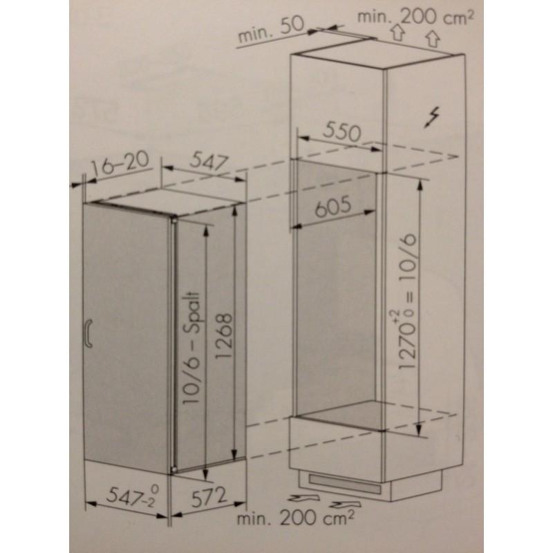 Miele Einbau-Kühlschrank K 34543-55 EF - 219 Liter - Höhe 1268 mm ...