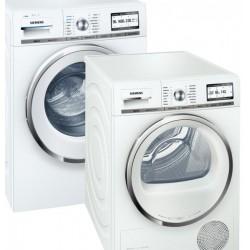 Siemens Waschturm, Waschmaschine WM16Y892 i-Dos + Wäschetrockner Siemens WT48Y782 (inkl. Verbindungssatz für Turm)