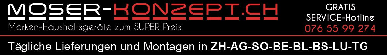 Grünstige Marken Haushaltsgeräte zum super Preis bei www.moser-konzept.ch